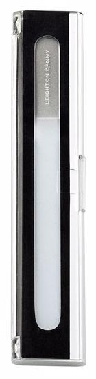Bilde av Crystal Nail File liten (135mm) i aluminium boks) - neglefilenes Rolls Royce